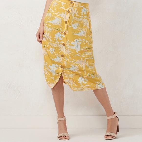 LC Lauren Conrad Dresses & Skirts - LC Lauren Conrad Button Front Skirt NWT